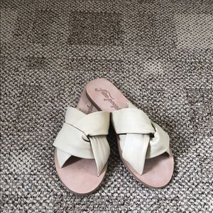 Free People leather knot slide sandal